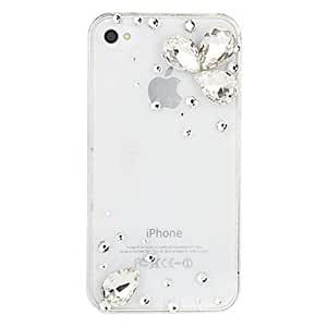 LCJ Waterdrop Crystal Transparent Case for iPhone 4/4S