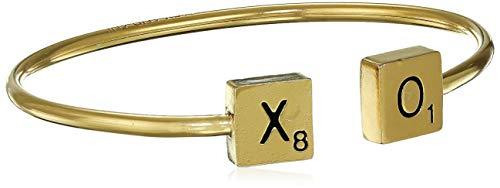 Alex and Ani Women's Scrabble Xo Cuff Bracelet, 14Kt Gold Plated, Expandable
