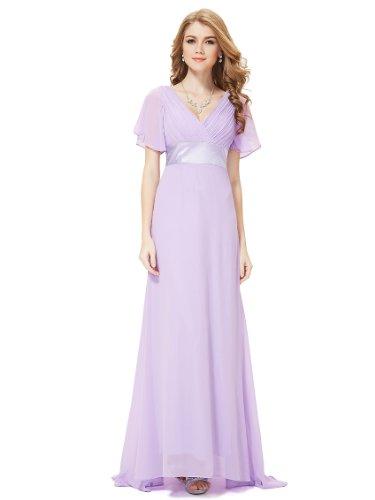 Ausschnitt Abendkleider 09890 Damen Pretty Schleppe Lange mit Festkleider Ever V Lavender zCtwxz