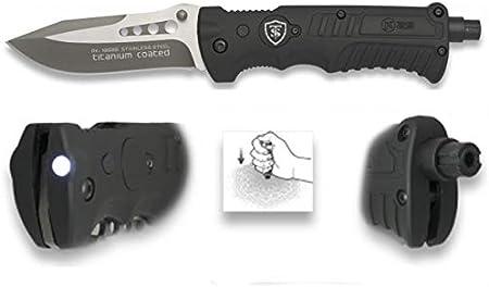 TS Knife | K25 Navaja táctica RSQM3 Led Cuchillo Plegable de ...