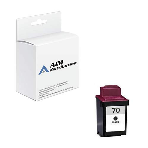 AIM Compatible Replacement for Lexmark NO. 70 High Resolution Waterproof Black Inkjet (600 Page Yield) (12A1970) - ()