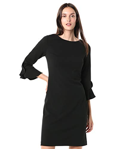 Karl Lagerfeld Paris Women's Tulip Sleeve Crepe Dress