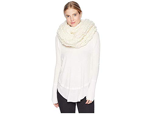 Free People Women's Dreamland Cowl Infinity Scarf, Ivory, Off White, One Size