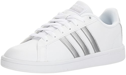 adidas Women's Cf Advantage Sneaker, FTWR White, Silver met, core Black, 8 M US