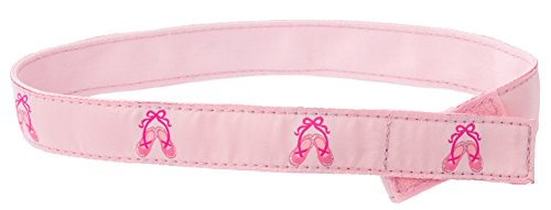 Myself Belts - Easy Girls' Belt for Toddlers and Kids ~ Pink Ballet Shoes