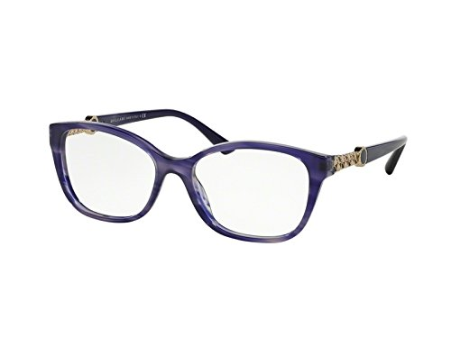 Bvlgari Women's BV4109 Eyeglasses Opal Striped Blue 52mm