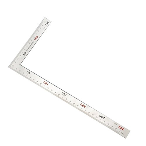 Timiy Stainless Steel 90 Degree Shaped Dual Angle Side Square Layout Tool L Metric Square Ruler 150x300mm 90 degree angle ruler
