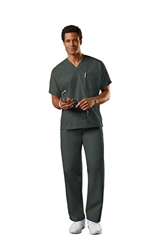 Cherokee Uniforms Authentic Workwear Unisex Scrub Set (Olive, XL)