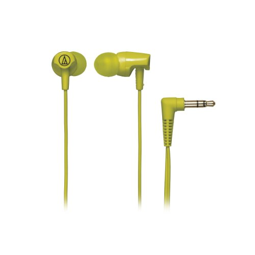 Audio Technica ATHCLR100LG In-Ear Headphones, Lime Green