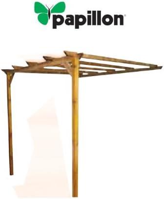PAPILLON - Pergola papillon 3, 0x3, 0mt madera 2 posters: Amazon ...