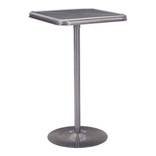 Gunmetal Zuo Modern 109129 Mallus Bar Table