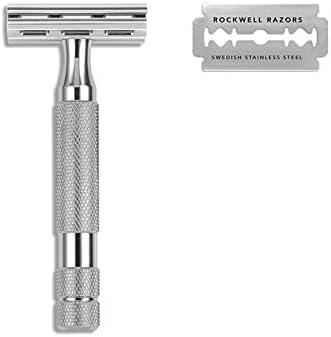 Maquinilla Afeitar Clásica Rockwell 2C Cromo Brillo: Amazon.es ...