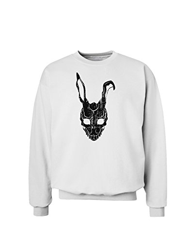 TOOLOUD Scary Bunny Face Black Distressed Sweatshirt - White - Large for $<!--$25.95-->