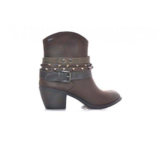 Mustang Botines Marron Hebilla Y tachuelas Mujer: Amazon.es: Zapatos y complementos