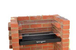 Black Knight Built In Grill 410 sq in with Stainless Steel cooking grates BKB403 Brick Bbq Grill Kit with Warming Rack Cover