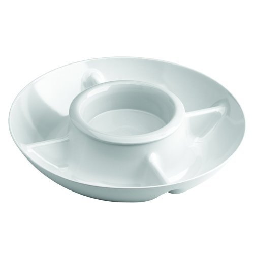 Kitchen Selectives ECD-88 Electric Heated Chip and Dip Tray, white
