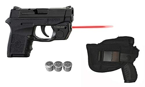 Laser Kit for S&W Smith-Wesson M&P Bodyguard 380 w/LASERPRO Holster Touch-Activated ArmaLaser TR24 Red Laser Sight, Guns & 2 Extra Batteries (Smith And Wesson Bodyguard 380 Laser Battery Size)