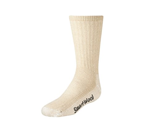Smartwool Kid's Hiking Medium Crew, oatmeal size L (Youth shoe size 3-6) Smartwool Clothes