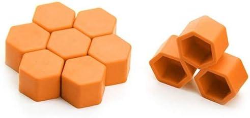 W-Shufang,bolt 20Pcs 19mm Silicone Car Wheel Nut Screw Cover Car Rims Exterior Bolt Caps Color Name : Fluorescent Orange