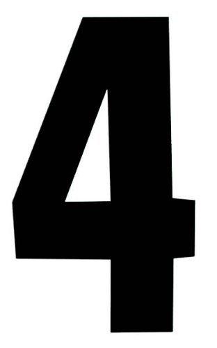 Black by Rowan Self Adhesive Wheelie Bin Numbers 17cm 4