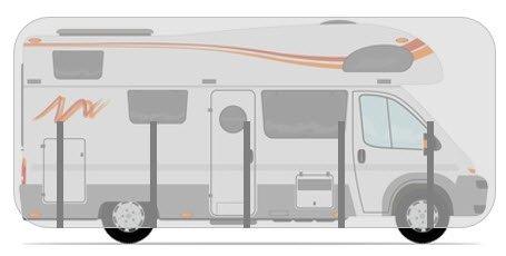 HBCOLLECTION Housse pour camping-car capucine de 6.0m /à 6.5m