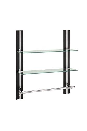 Review Organize It All 12771W1P 2-Tier Glass Shelf with Towel Bar By Organize It All by Organize It All