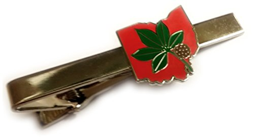 OSU Ohio State University Buckeyes Leaf Tie Bar Clip ()