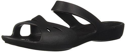 Crocs WoMen Kelli Flat Sandal Black