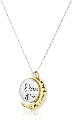 "Sterling Silver ""I love you to the moon & Back"" Pendant Necklace, 18-Inch 31AZAgU1JwL"
