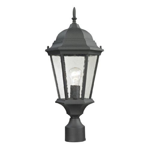 Cornerstone Lighting 8101EP/65 Temple Hill Pendant Lantern, Matte Textured Black