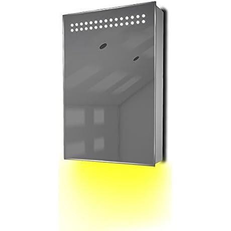Ambient Bathroom LED Cabinet With Sensor Shaver Socket K255Y