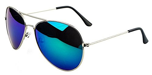 TomYork Color Film Men and Women Same Style Sunglasses(blue green)
