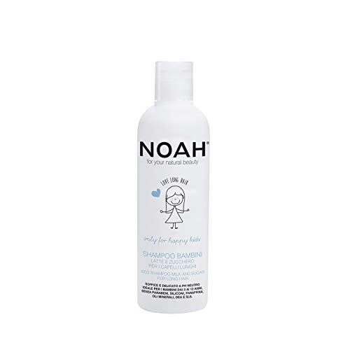 NOAH Kids Detangling Shampoo with Milk Protein & Sugar for Long, Smooth Hair Kids - Organic, Sulfate, Eco Friendly, Non Toxic, Cruelty Free Shampoo - Sensitive, Hydrating, Gentle Shampoo, 8.5 fl.oz (Best Detangling Conditioner For Long Hair)
