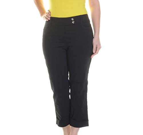 Style & Co. New Black Tummy Control Pants 6 $27.98 DBFL