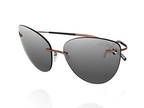 Silhouette Titanium Sunglasses Titan Minimal Art the Icon 8154 8688 (8154 RED) ()