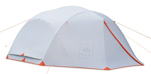 EXIO 4 Person 3.5 Season Backpacking Tent, 20D Breathable Ripstop Nylon tent and Rainfly with PU2000 Silicon Coating, Aluminum Poles, Footprint included