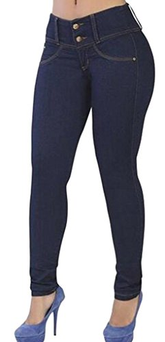Bum Ladies Super Stretch Jeans (Blue) - 5