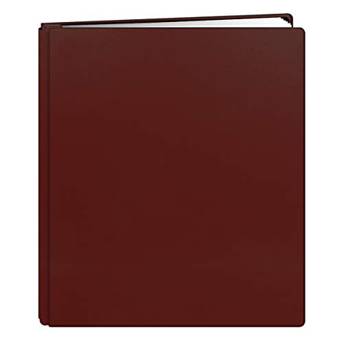 Pioneer Photo Albums 20-Page Family Treasures Deluxe Red Bonded Leather Cover Scrapbook for 8.5 x 11-Inch Pages