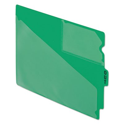 End Tab Poly Out Guides, Center ''OUT'' Tab, Letter, Green, 50/Box