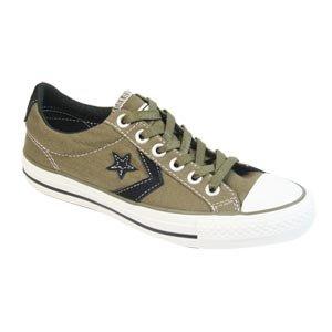32b64da1662f53 Converse Star Player Chevron Ev Ox Lo Canvas Trainer Olive   Black 10   Amazon.co.uk  Shoes   Bags