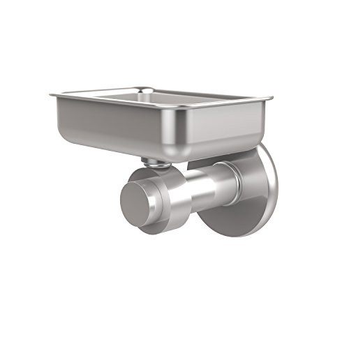 Allied Brass 932-SCH Mercury Collection Wall Mounted Soap Dish Satin ()