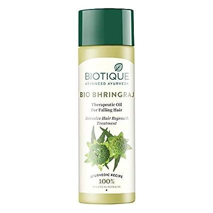 Biotique bhringraj nuevo crecimiento terapéutico aceite para Fine y adelgazamiento del cabello