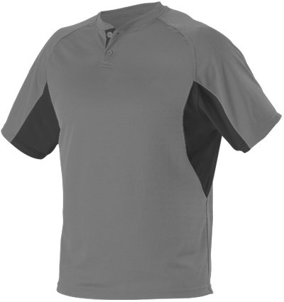 ALLESON Baseball Jersey - 2-Button Henley Extreme Mock Mesh - 525 - Adult Large (L) - (Alleson Baseball Jersey)