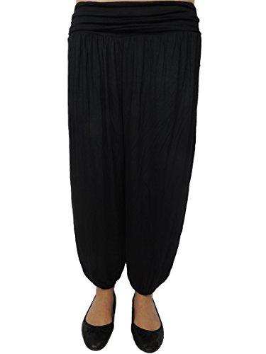 11 Farben einfarbige Damen Pumphosen Gr 42 44 46 48 50 52 54 Schwarz