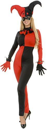 [Women XS 3-5 Sexy Naughty Red & Black Harlequin Costume] (New Harley Quinn Costumes)