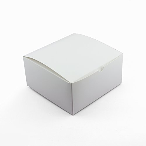 (Adorox 10 Pack 8 x 8 x 4 inches Kraft Boxes Cardboard Gift Box with Lids for Wedding Birthday Holiday Baby Shower Favor (White, 8 X 8 X 4))