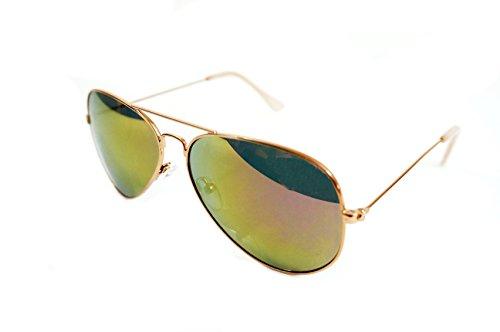 Joes Womens Rose Gold Aviator Sunglasses JJ 6016 - Joe's Jeans Sunglasses