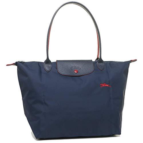 Longchamp 'Large 'Le Pliage Club' Nylon Tote Shoulder Bag, Navy (Longchamp Tote Navy)
