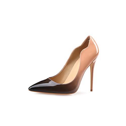 KOKQSX-eierkopf Hochhackigen Schuhen und 12cm Schuhe mit Einzelnen Schuhe.