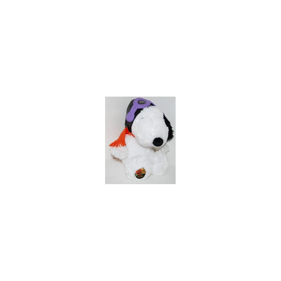 Hallmark Peanuts SNOOPY FLYING ACE PILOT 12 Plush   40th Anniversary Its the Great Pumpkin, Charlie Brown